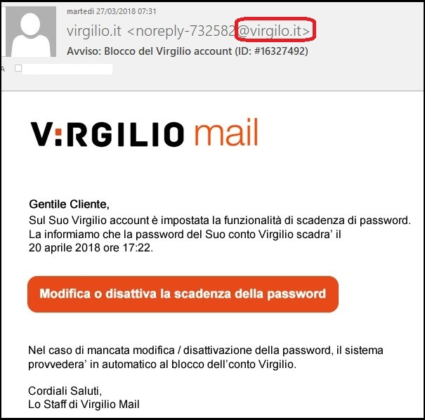 phishing virgilio modificato